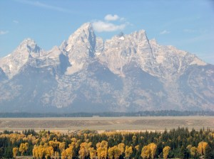 Trip to Jackson Hole, WY...the Tetons are incredible.